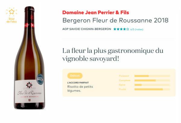 Voilà un exemple de Chignin de Savoie, environ 15€, ce vin blanc est idéal pour une raclette