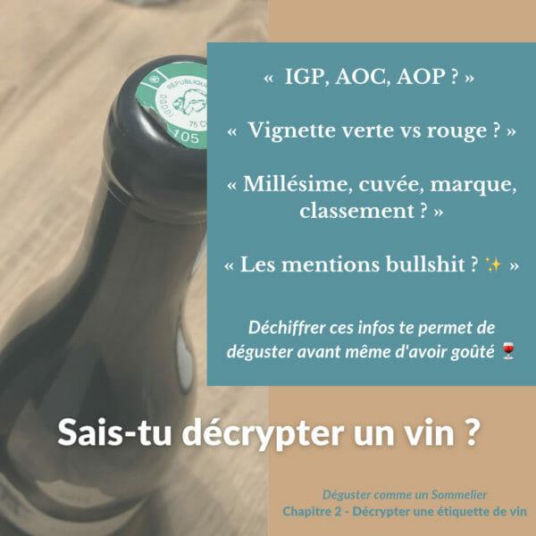 4 choses à savoir pour lire une étiquette de vin