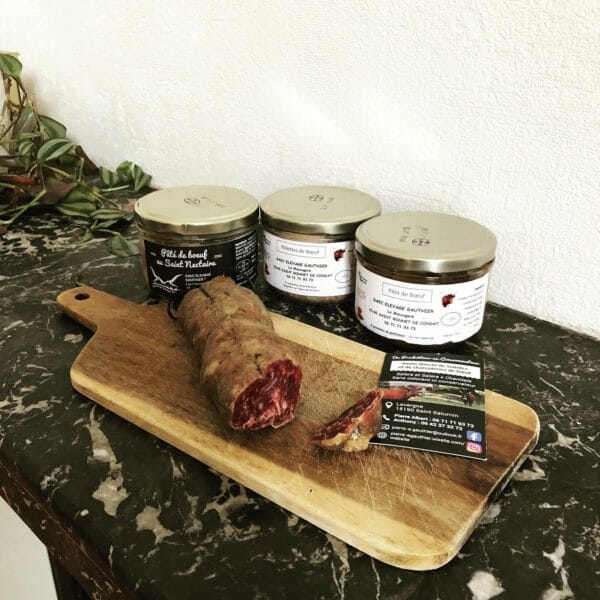 Saucisson et Pâté de boeuf Elevage Gauthier du Cantal ! 🥩