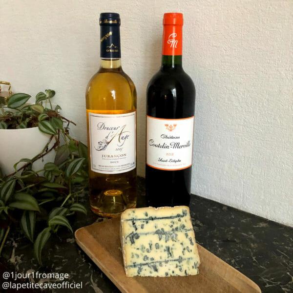meilleurs vin rouge et blanc avec le Bleu